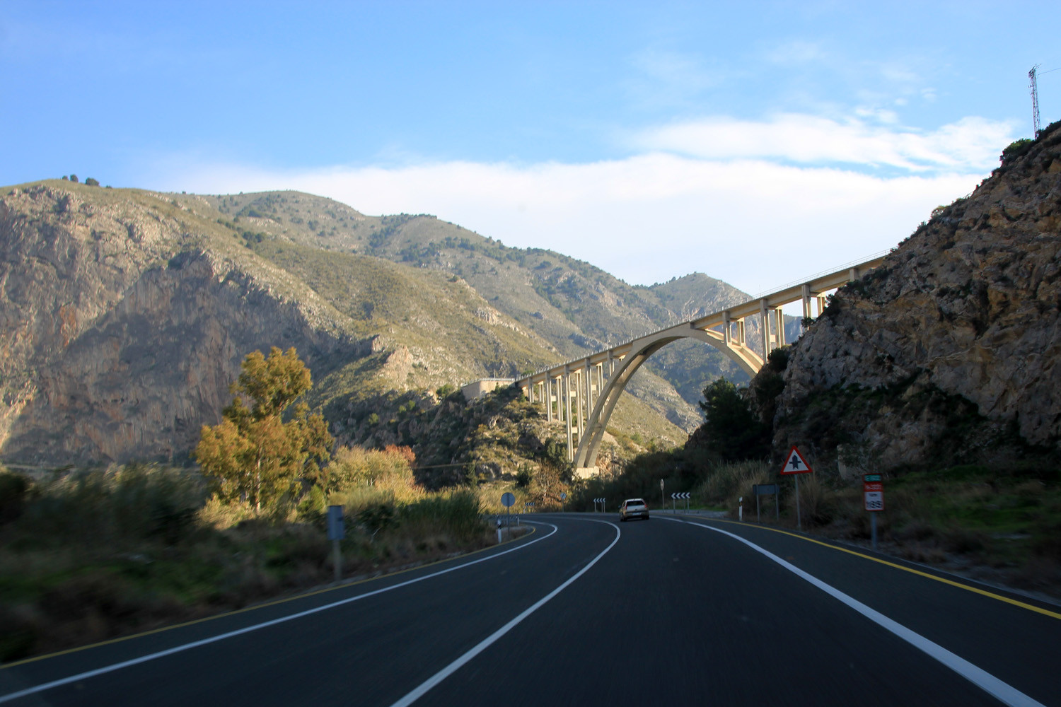 The Canyon of the Guadalfeo river