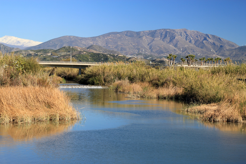 The River Rio Guadalfeo Final Point at the Sea