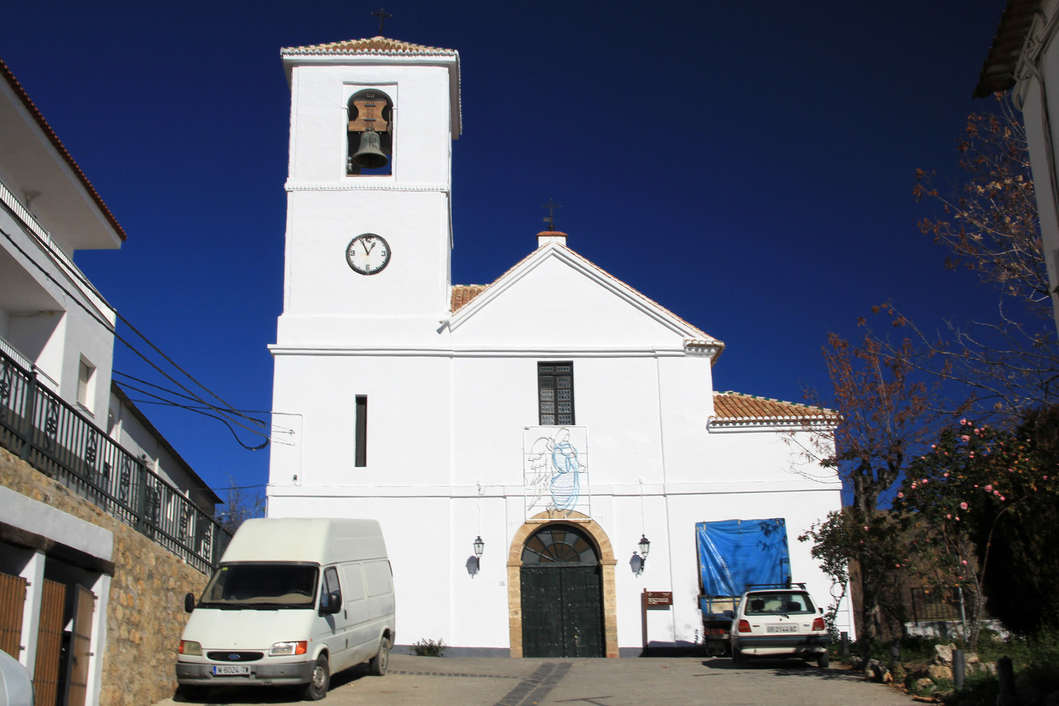 The Church of  in Mecina Bombarón