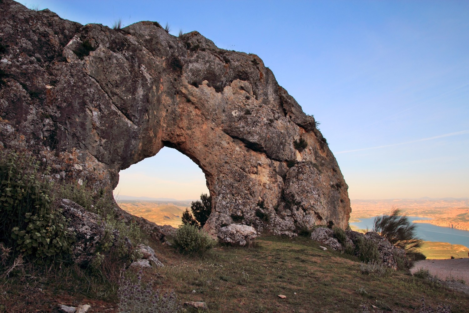 A Natural Arch on the Mountain Jabalcon