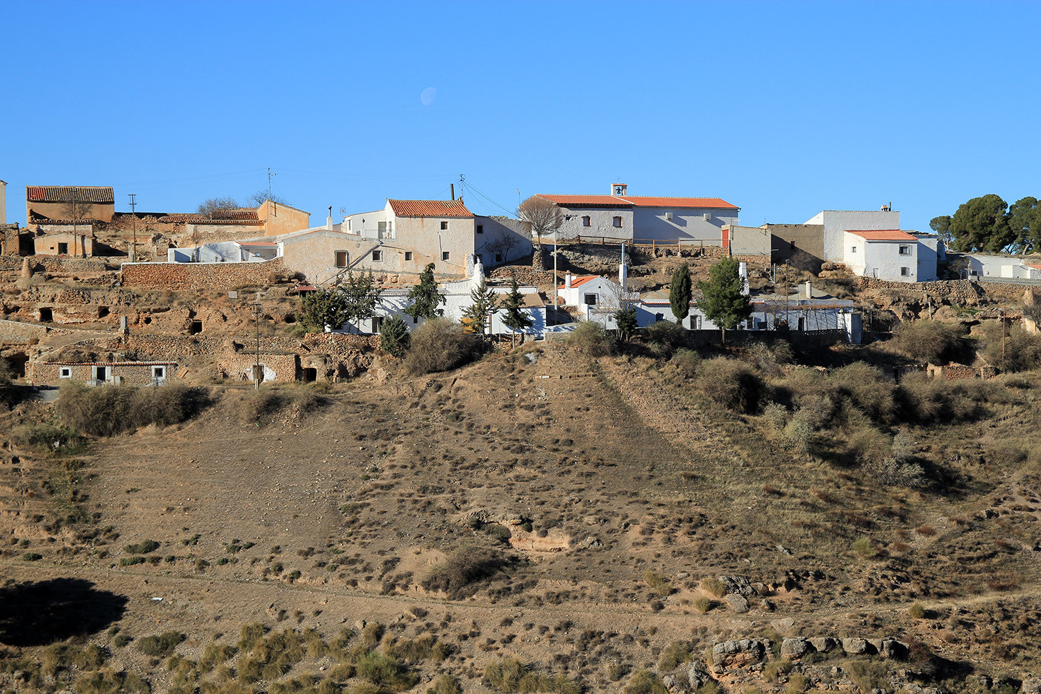The view from the cave houses