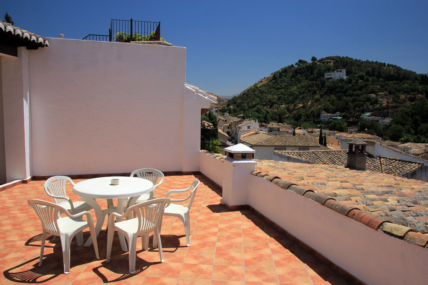 View to the left from the roof terrace