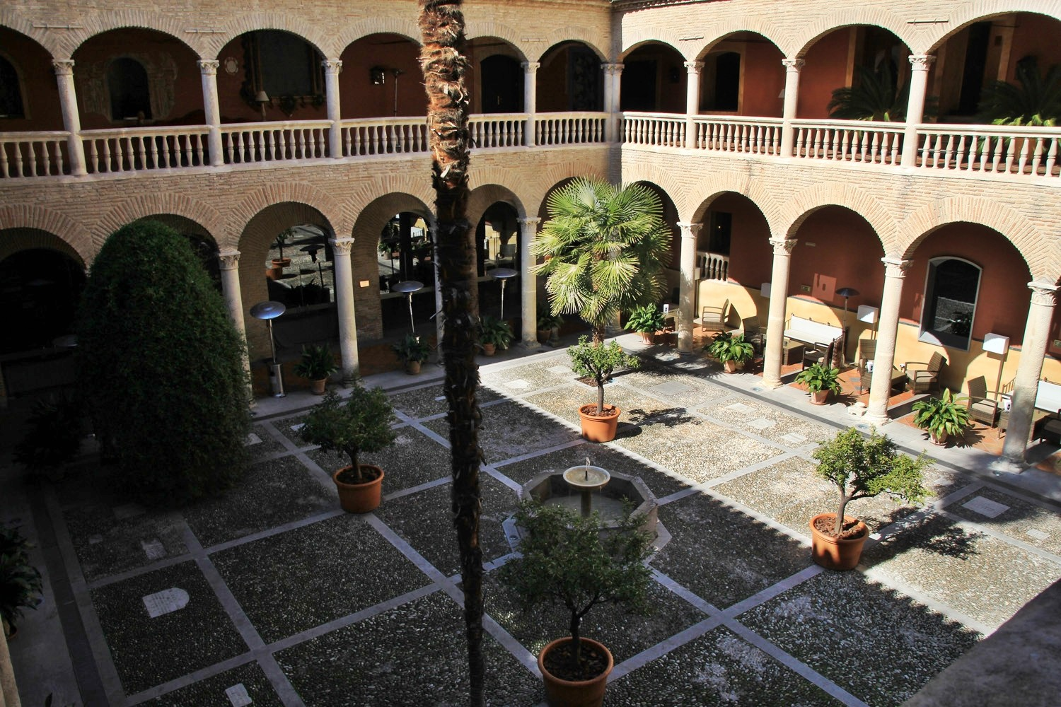 The inner square of the reformed convent