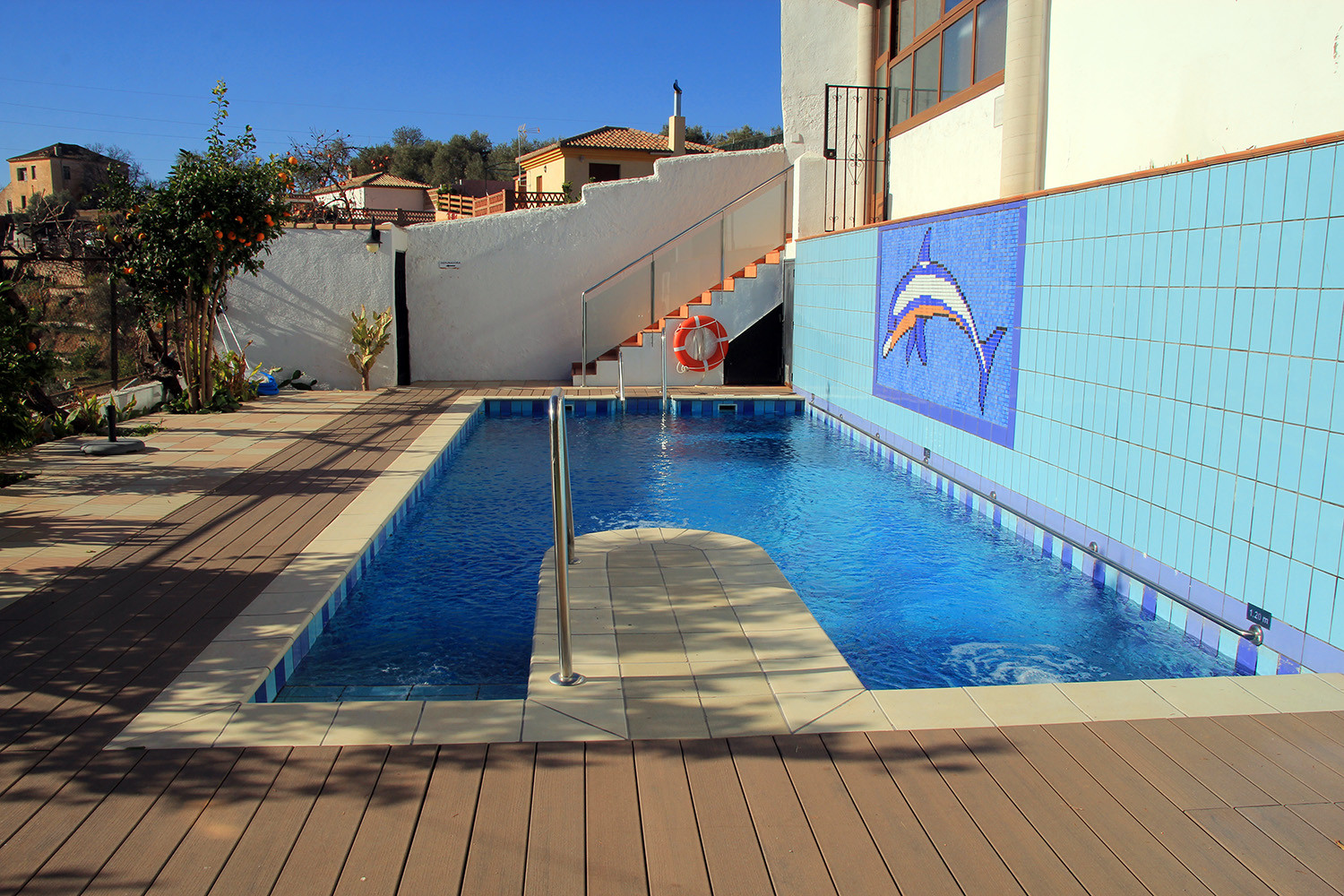 The communal swimming pool