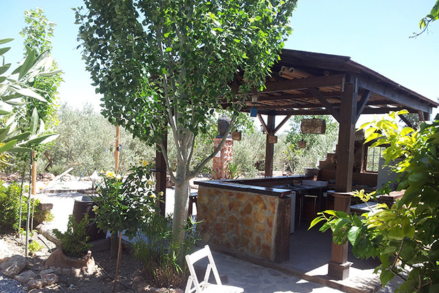 The bar in the garden