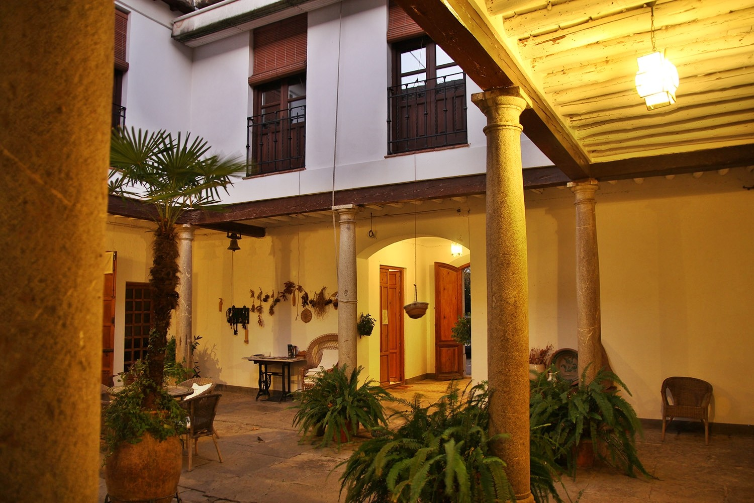 The courtyard by night