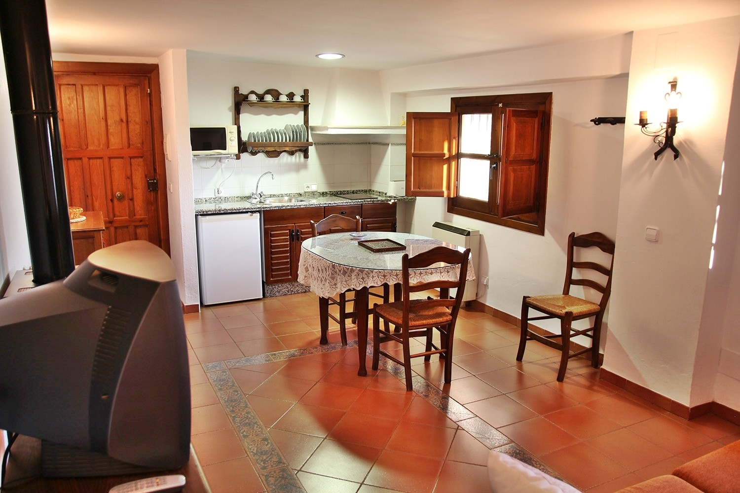 View to the open kitchen