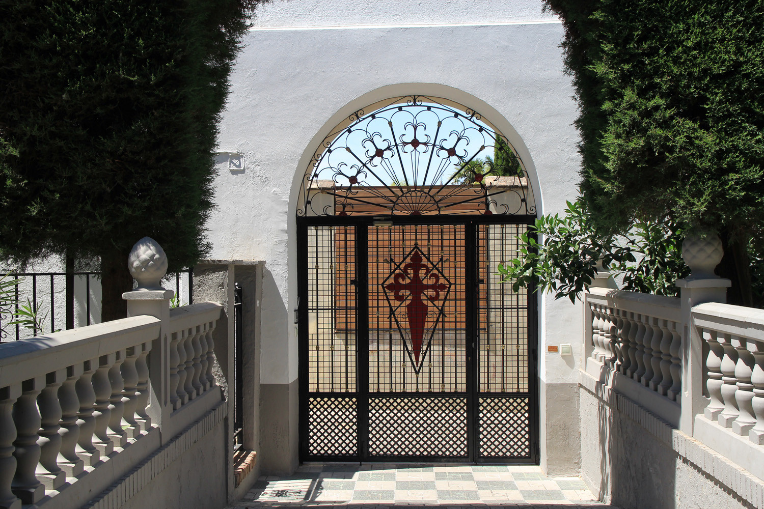 The door at the street side