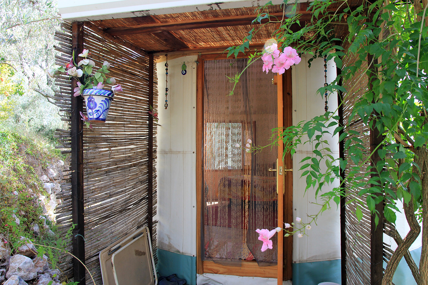 The entrance of the Yurt