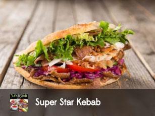 super star kebab, kebab, tacos, assiette