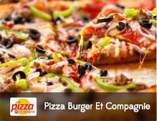 pizza burger et compagnie, pizza, salade, burger, pattes