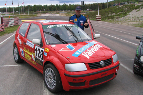 Karsten Ney 2007 bei der int. Rallycross Europameisterschaft in Höljes / Schweden