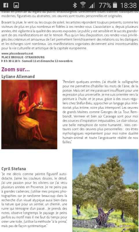 """Magazine de novembre 2017 """"Spectacles et art de vivre à Strasbourg et environs """""""
