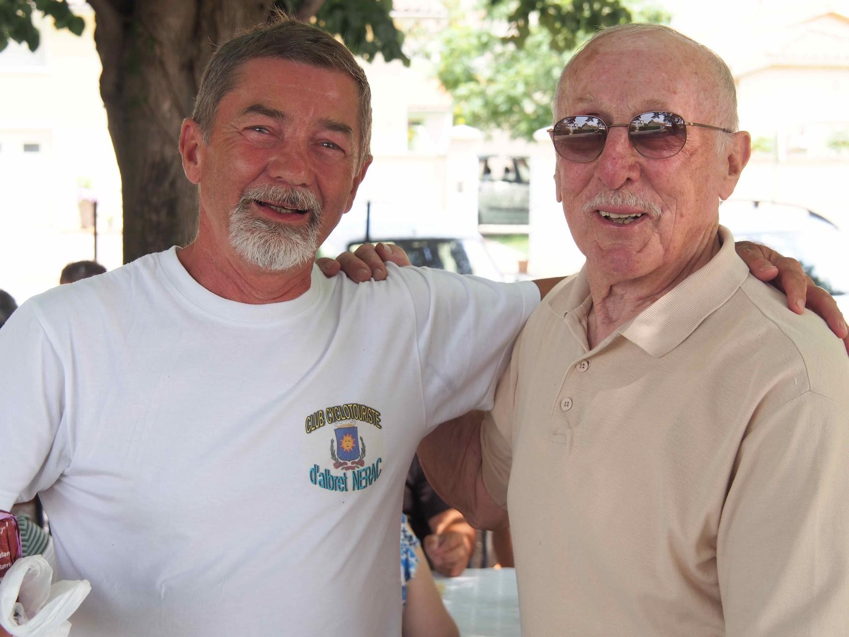 les Présidents du CCA Françis l'actuel et Jean, le premier et  créateur du CCA