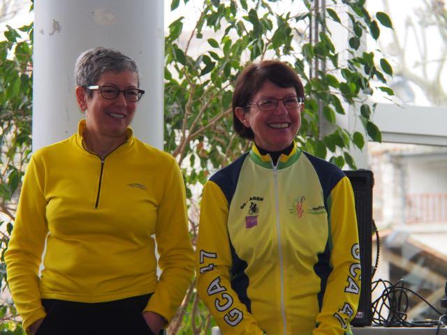 2 trésors (rières) tout sourire : Elisabeth à la FFCT, Lulu au CODEP