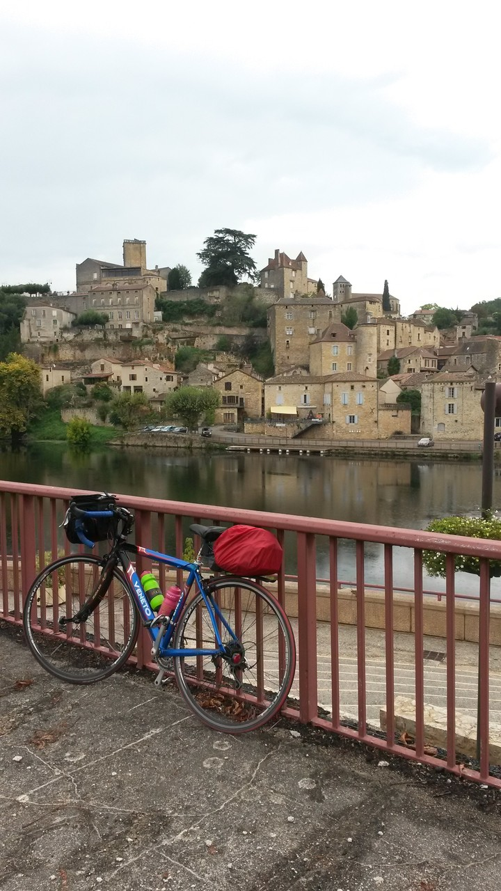 Vélo de Babeth  devant Puy l'Evêque