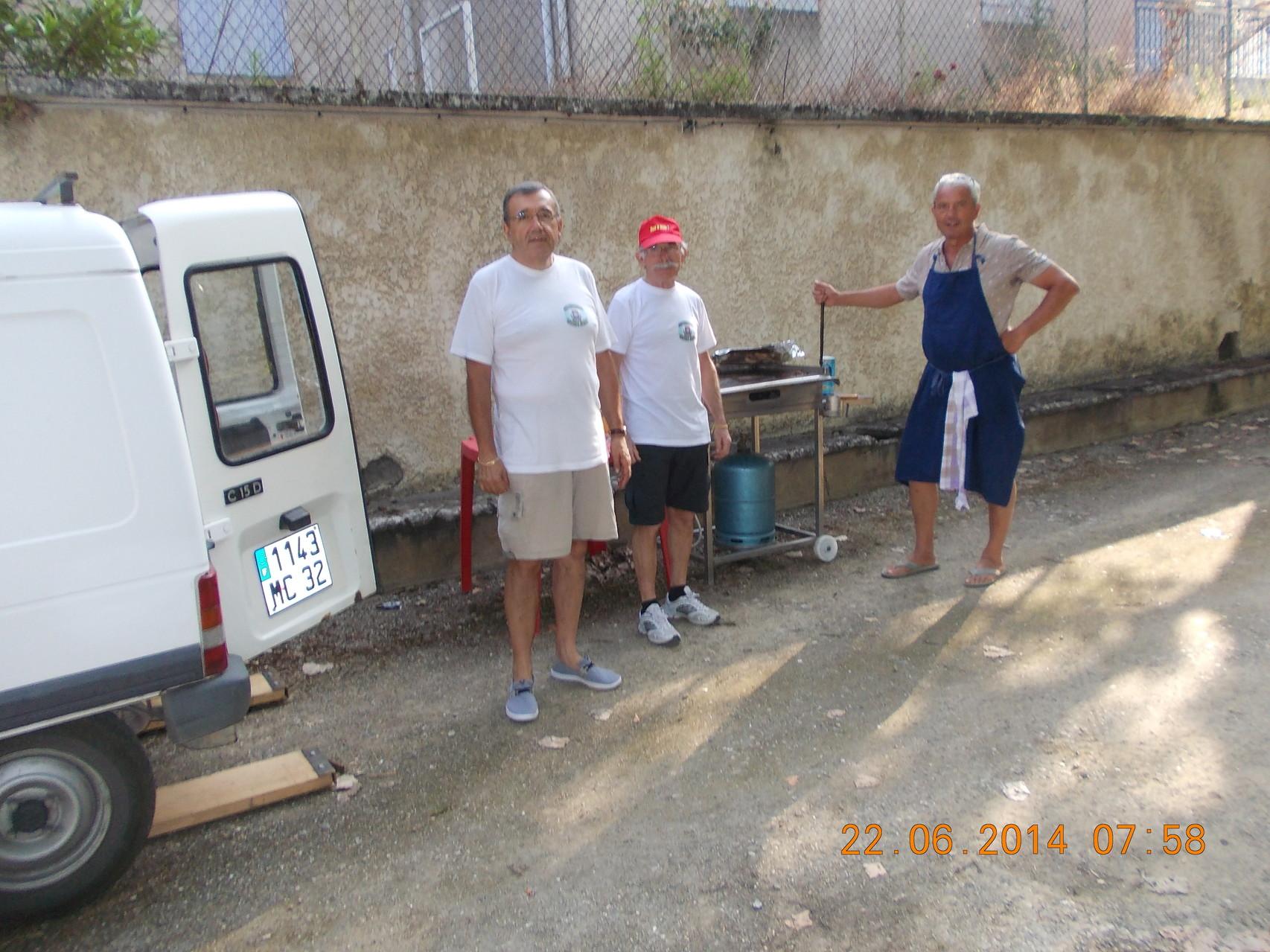 Bernard, Charlie et Jean Marc