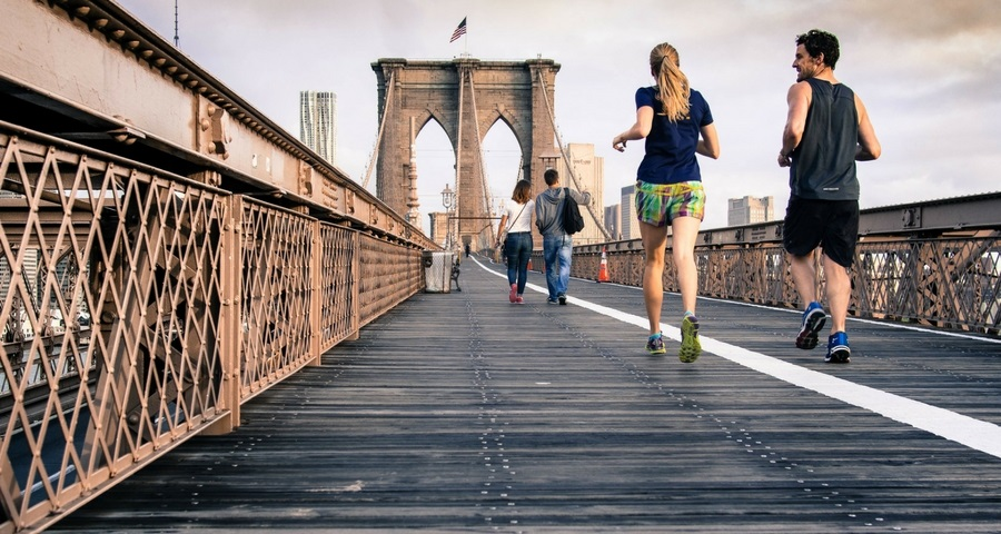 Bewegung in Form von joggen