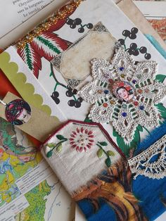 couverture, junk journal,mixed media,