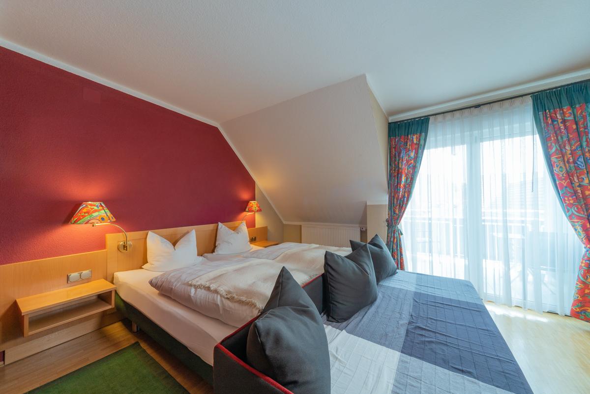 Doppelzimmer, auch als Dreibettzimmer nutzbar