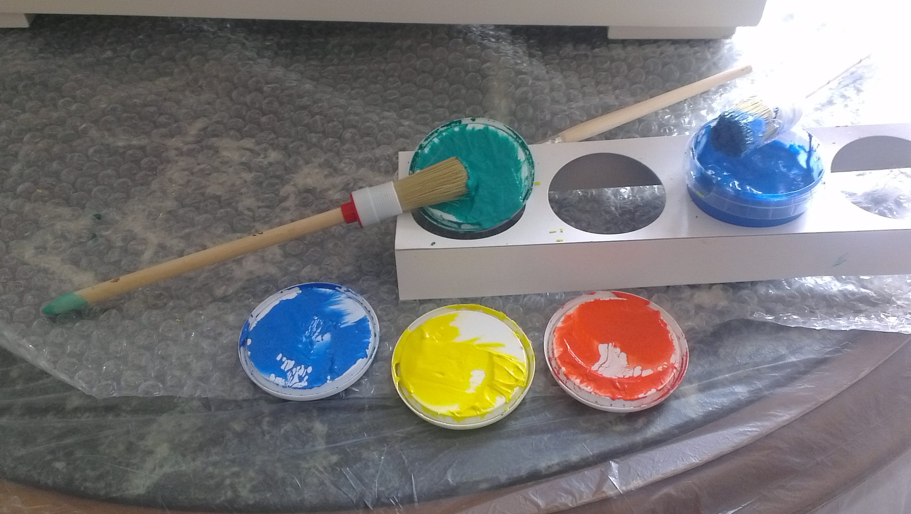 Vorbereitung der Farben