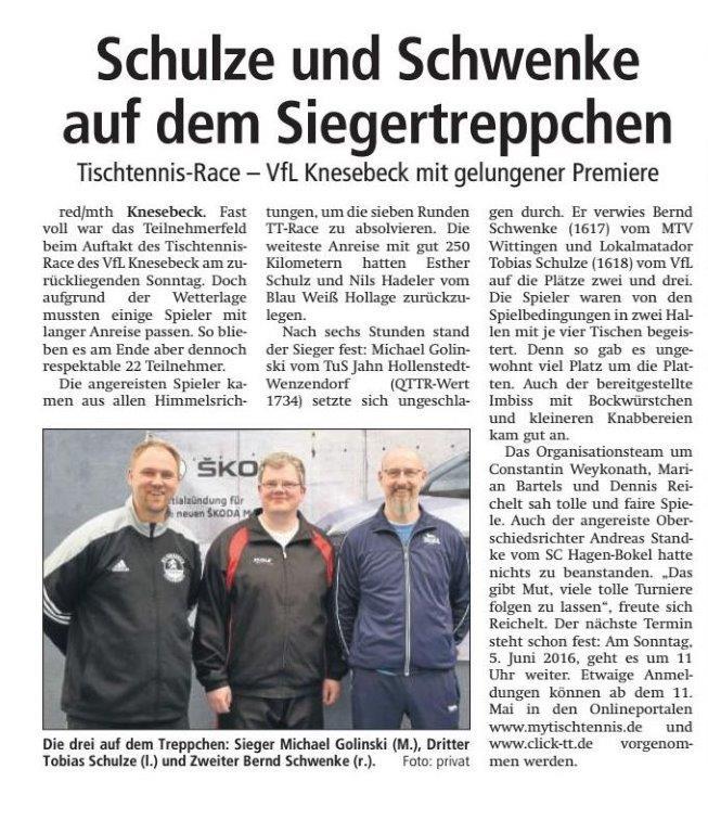 Bericht aus dem IK vom 1. Knesebecker Einhorn TT Race