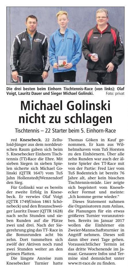 Bericht IK 5. Knesebecker Einhorn TT Race