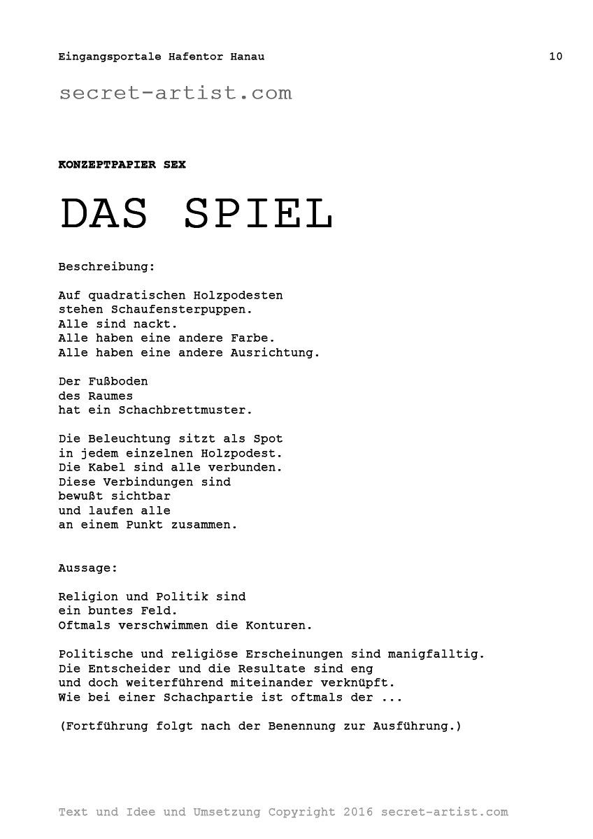 secret-artist // Eingangsportale Hanau Hafentor // Konzepte zur Kunstaktion