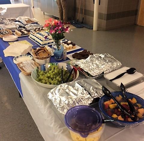 Freshly cut fruit & fruit salad were a hit, thanks to Pam Brown, Karen Fallon, Deb Kreutzer, Ellen Young, Andrea Barney, Lana Sechkina, Andrea Barney, Paula Gilarde, Susanne Friel, Kelly Anderson