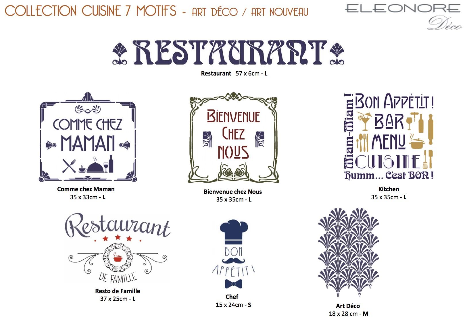 Cuisine Pochoirs Eléonore Déco