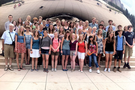 "In Chicago vor der ""Bean"""