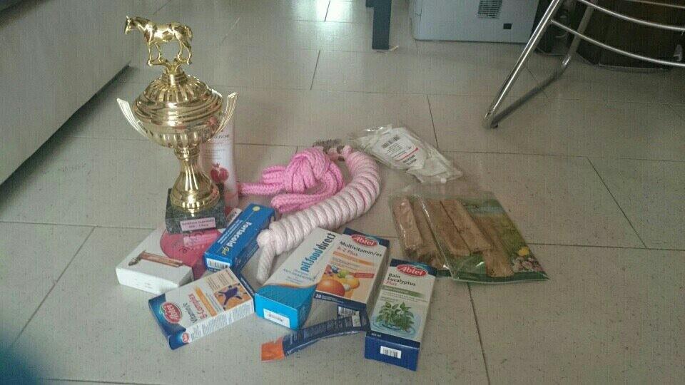 Preis Rang 1 Zyaro und Rang 11 Lüssy