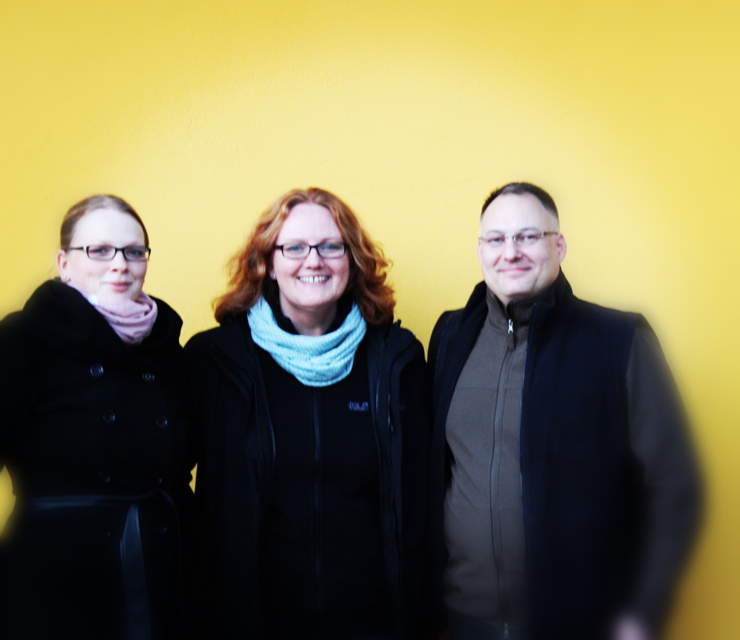 Von der MV 2018 gewählter Vorstand Franziska Stiller (Kassenwartin), Sandra Hoeppner (1. Vorsitzende), Dirk Osinski (ehemaliger 2. Vorsitzender)