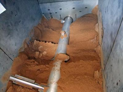 アシドロ®基材が入った処理槽内の様子です
