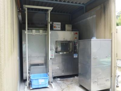 BC-200E型は、1日に200kgのゾウのふんを処理します。繊維質の多いゾウのふんを大量に処理するために新たに開発を行いました