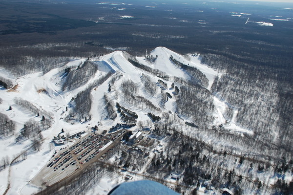 When you ski Caberfae Peaks you're on top of the world!