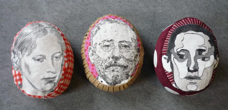 Zöpfchen, Julius, Brainman, 2009 (3 Kopfkissen - Vorderansicht)