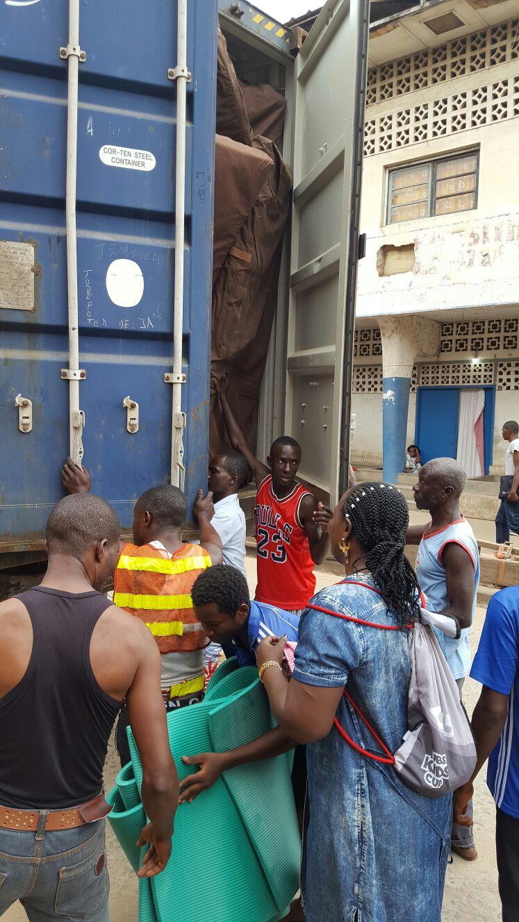 Der Container ist im Kongo angekommen