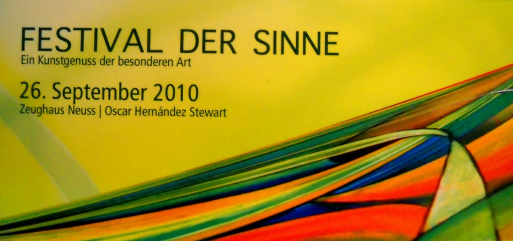 """Festival der Sinne"" Invitation. Neuss, 2010."