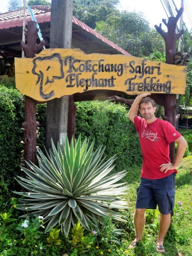 freaky finance, freaky travel, Schild, Kokchang Safari Elephant Trekking, Elefantenreiten, Phuket