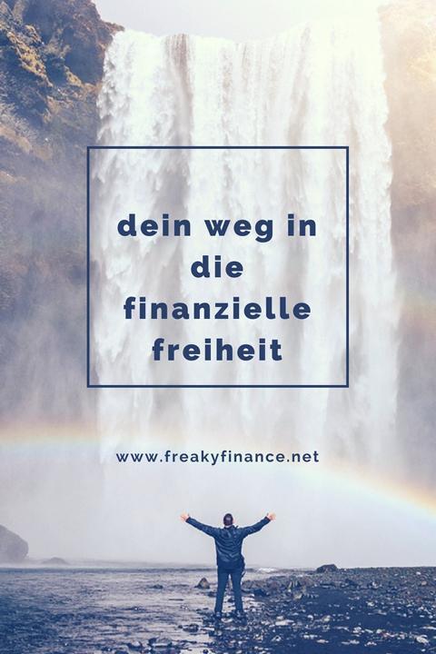 freaky finance, dein weg in die finanzielle freiheit, mann, ruhe, alleine, erfolg, fluss, wasser, regenbogen, wasserfall