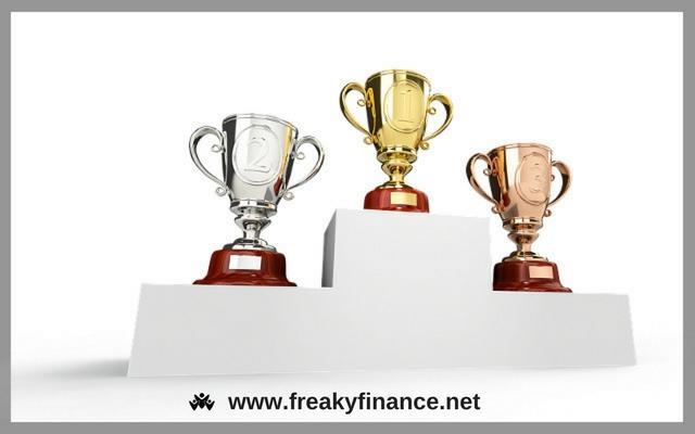 freaky finance, Pokale, Sieger, Gewinner, Platzierung, Erfolg, Gold, Silber, Bronze, Finanzbildung, Geld, Vermögen