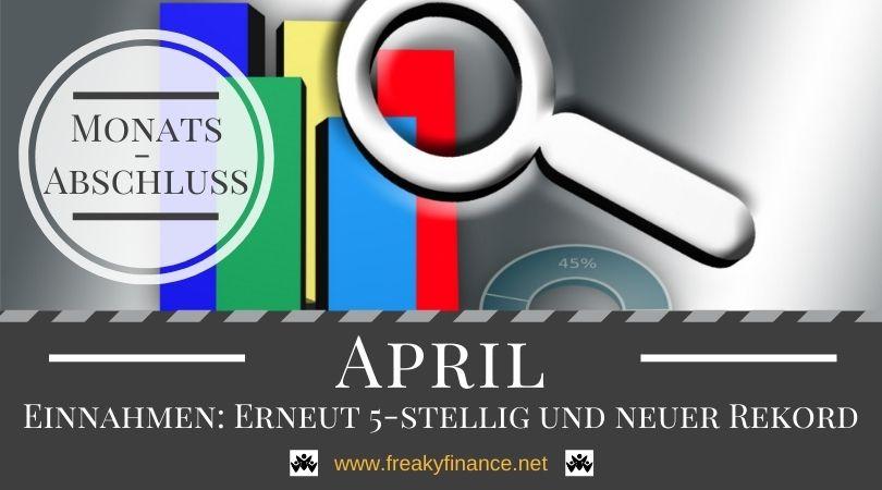 Hohe Einnahmen, viel frischer Content und einige neue Projekte am Start - Monatsabschluss April