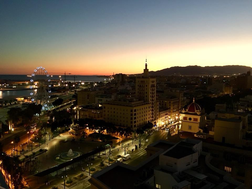 Malaga zum Sonnenuntergang