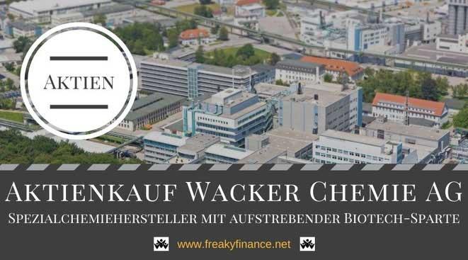 Aktienkauf Wacker Chemie, Unternehmensvorstellung, freaky finance, Siltronic Werk Burghausen, Luftbild, Aktien, Dividenden