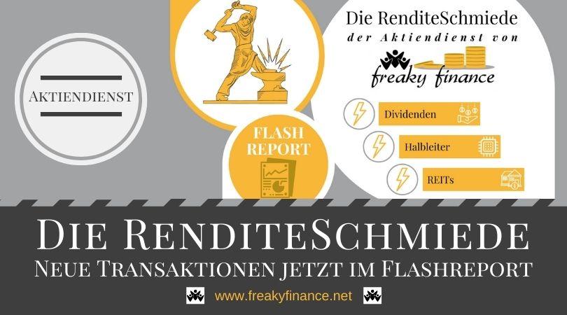 Neuer Flashreport der RenditeSchmiede verfügbar