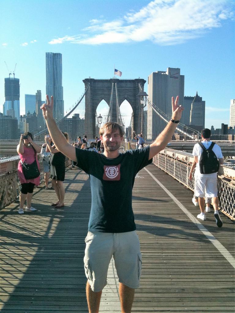 I walked Brooklyn Bridge