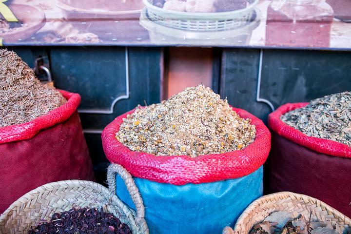 Orientalische Waren auf dem Markt
