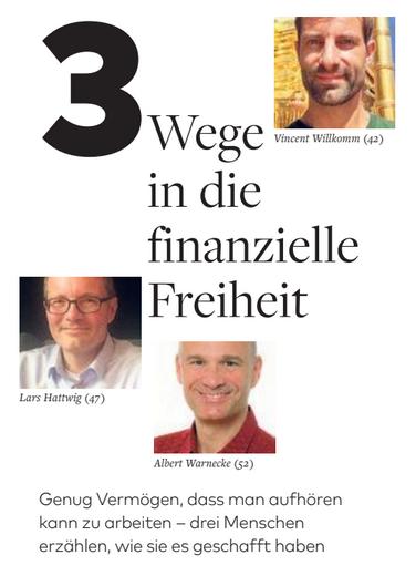 freaky finance, 3 Wege in die finanzielle Freiheit, Artikel in der Tageszeitung die Welt