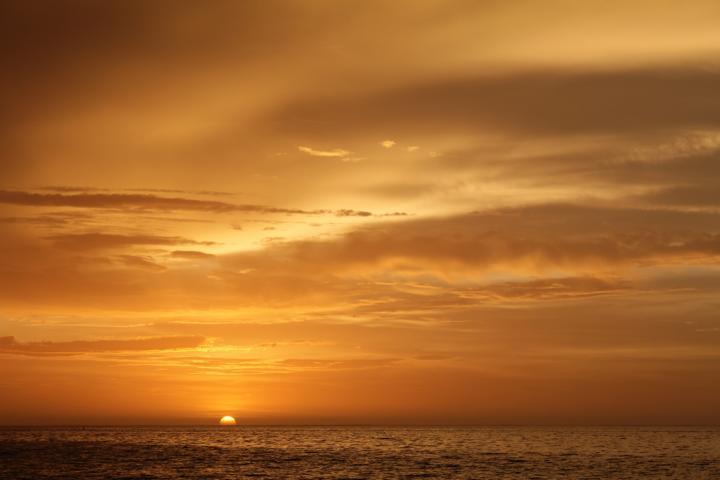 Blick auf den Sonnenuntergang im Cape Range Nationalpark